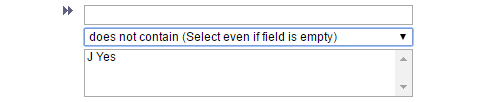 Option 3: does not contain (Select even if field is empty)